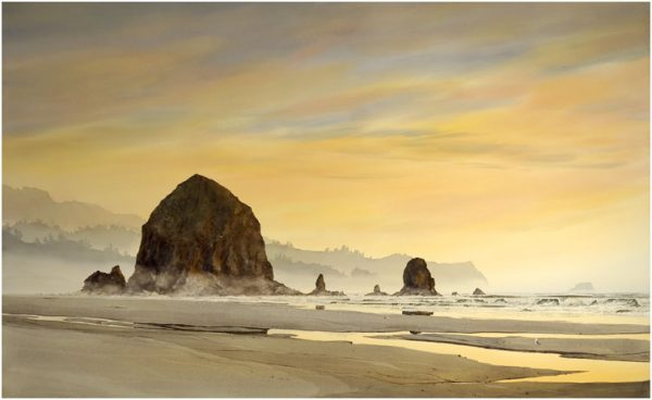 GICLEE-FD-Haystack-Rock-Sun