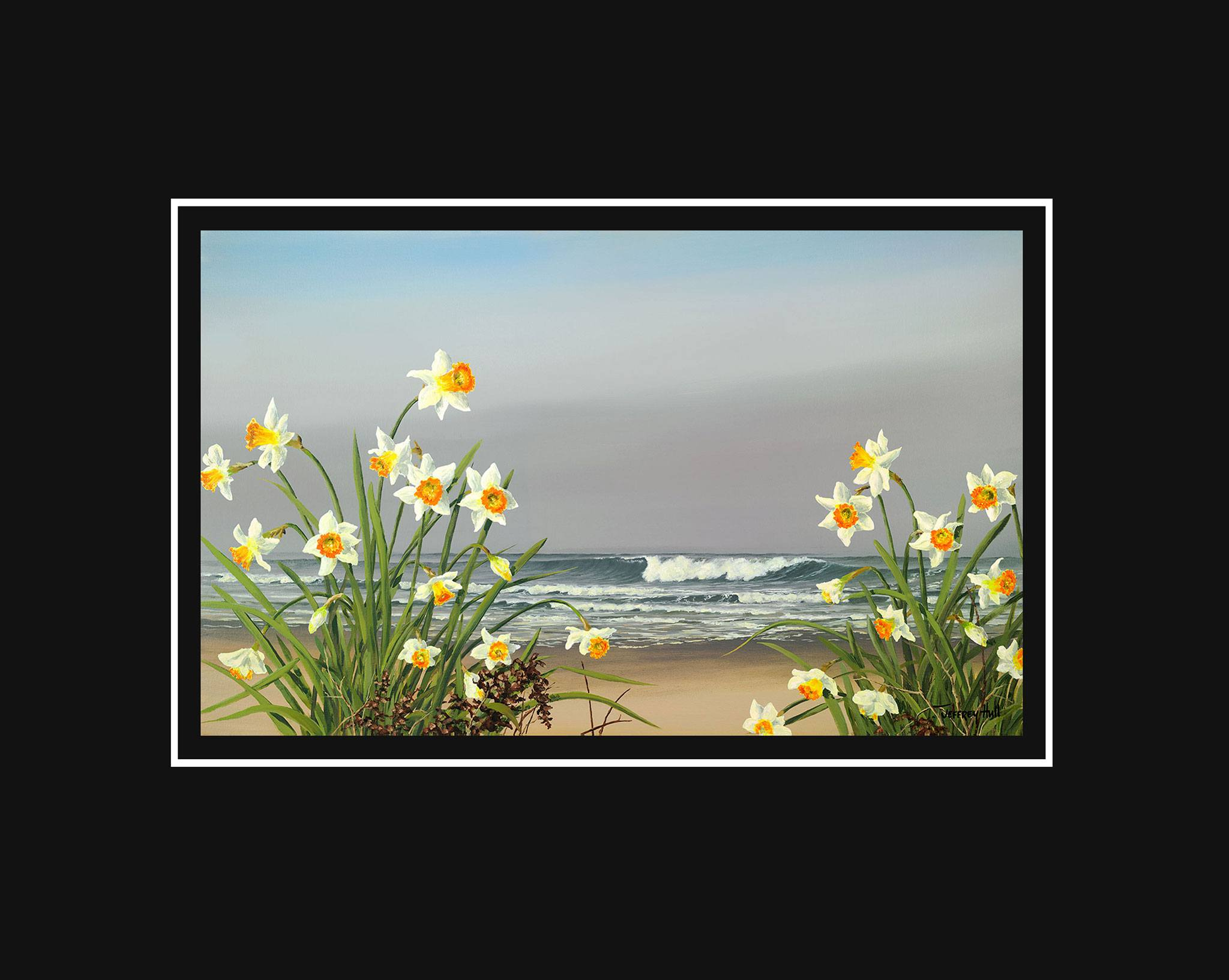 Shoreline-Daffodils-Mini-Unframed-Jet-Black-4-Website-2021